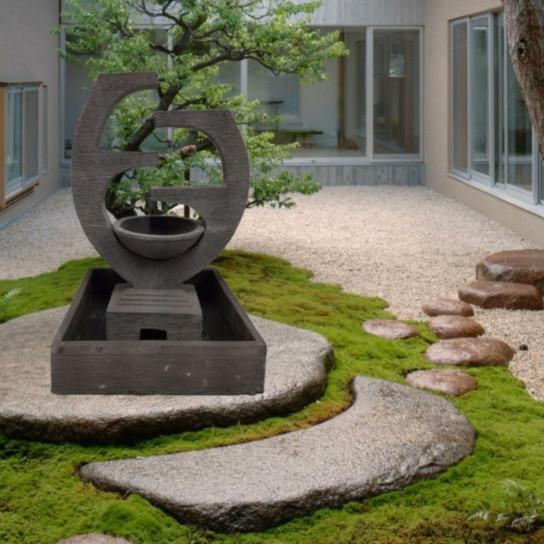 Fontaine de jardin cascade une coupe Niagara 150 cm