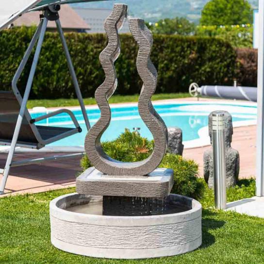 Fontaine jardin flamme 160 cm