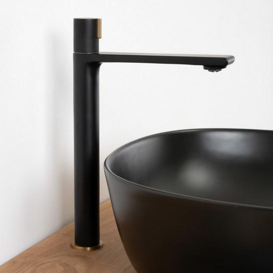 Grifo lavabo monomando progresivo Tamisa black