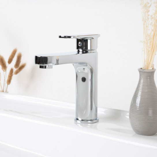 Grifo mezclador para lavabo Arno cromado