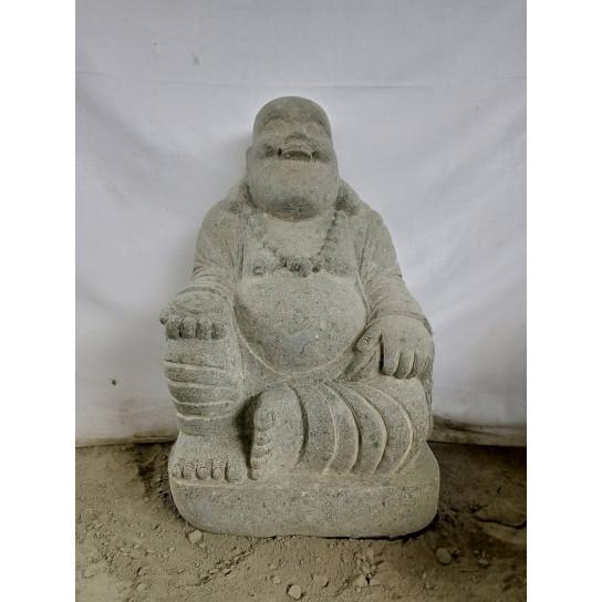 Happy Buddha lava stone statue 60 cm