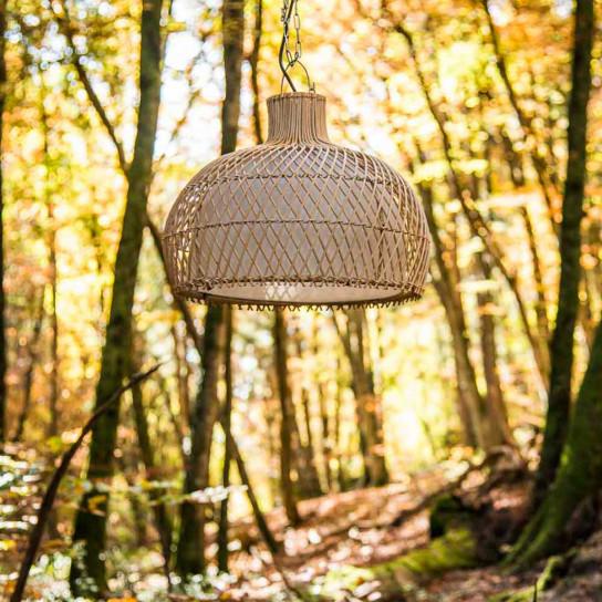 Lámpara de techo de mimbre 44 cm