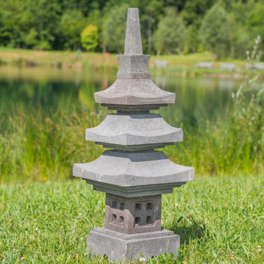 Linterna japonesa pagoda de piedra de lava 90 cm