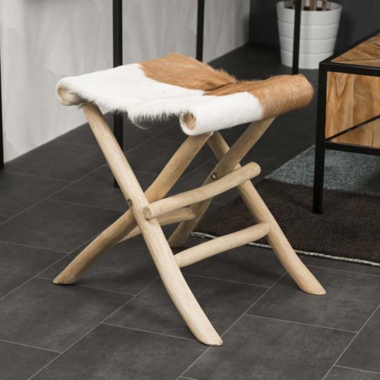 Lodge folding wood stool