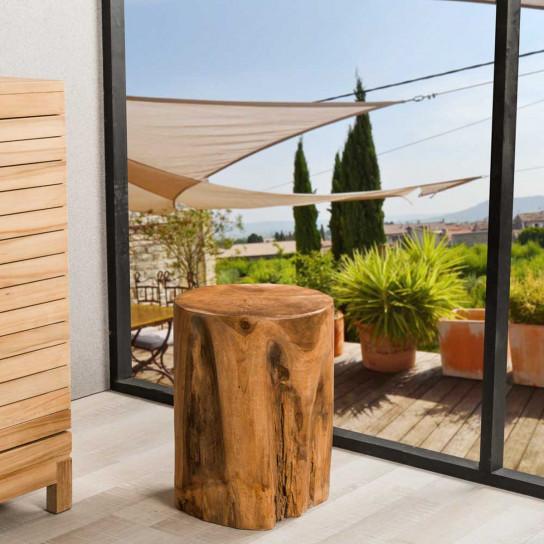 Lodge teak root wood stool
