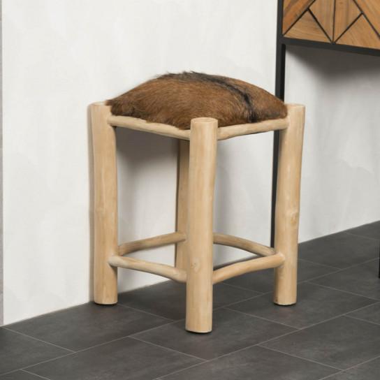 Lodge wood stool