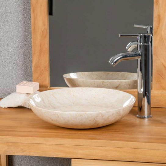Lysom cream countertop bathroom sink 35 cm