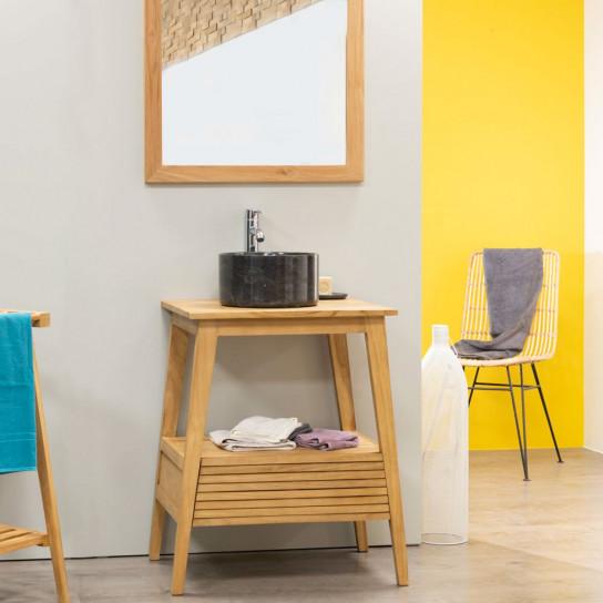 meuble sous vasque en bois teck