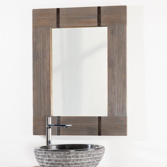 Miroir de salle de bain loft 60x80 gris for Tv miroir salle de bain
