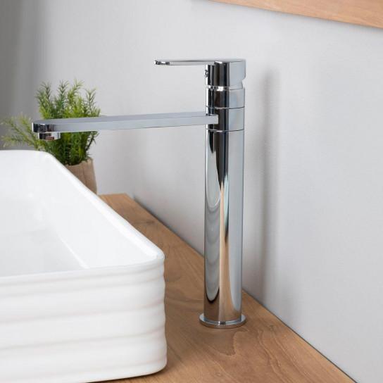Mitigeur haut pour vasque salle de bain Corrib chrome