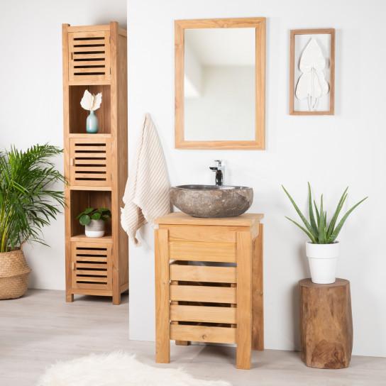 Mueble Zen para cuarto de baño de teca 50 cm