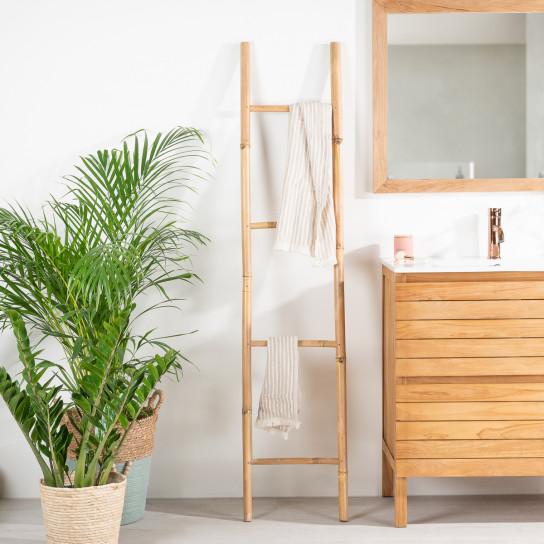 bamboo towel holder ladder