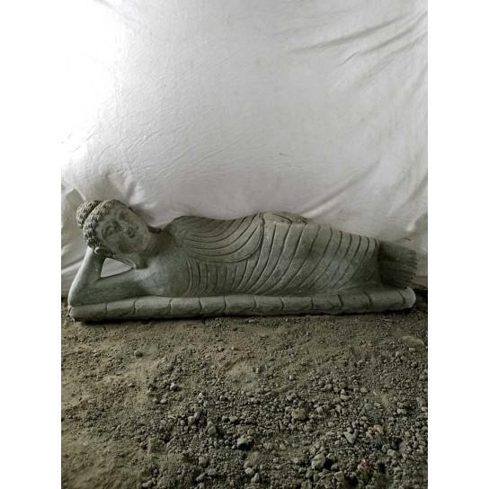 Natural volcanic rock reclining buddha garden statue 120 cm