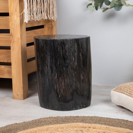 pouf bois pétrifié 50 cm