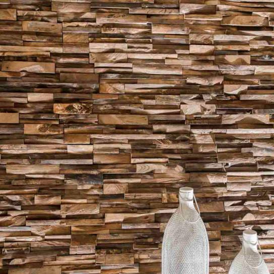 Recycled aged teak cladding 20 x 50 cm