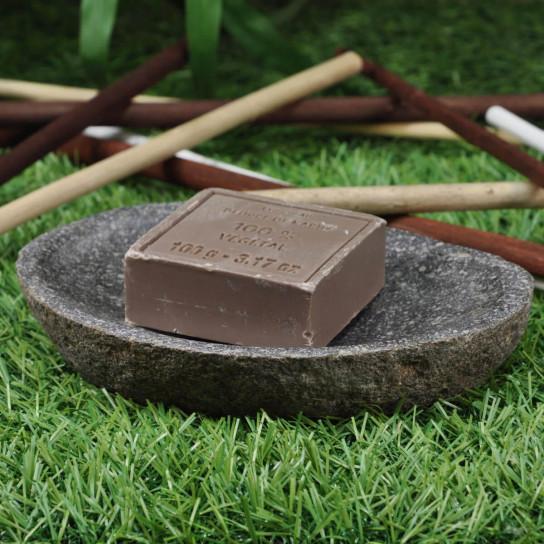 River stone soap holder