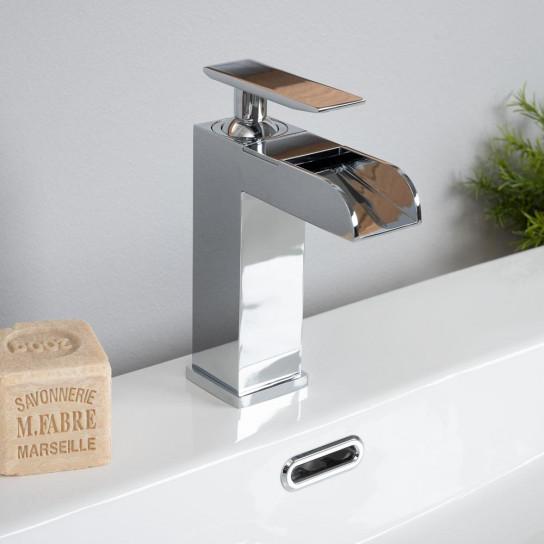 Robinet cascade pour lavabo Shannon chrome