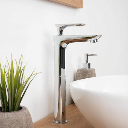 Robinet haut pour vasque salle de bain Ems chrome
