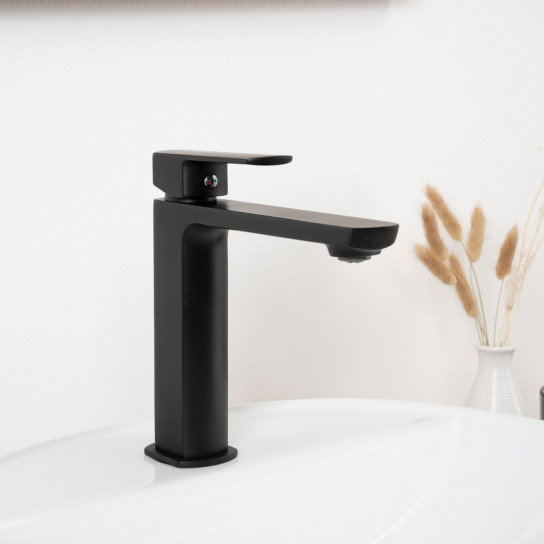 Roninet noir pour lavabo Louga