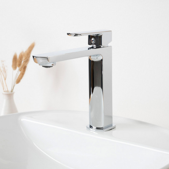 Robinet pour lavabo mitigeur Louga chrome