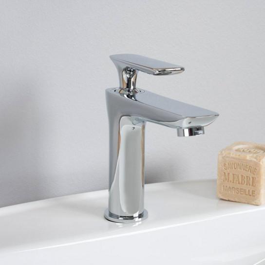 Robinet pour lavabo salle de bain Ems chromé
