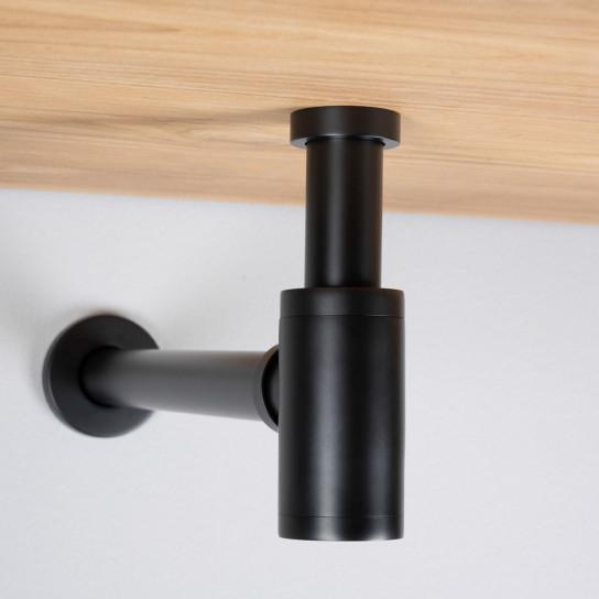 siphon cylindrique noir