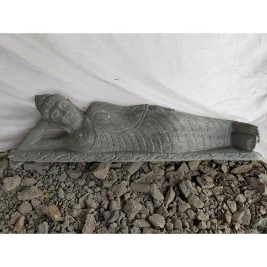 statue Bouddha couché en pierre naturelle 100cm