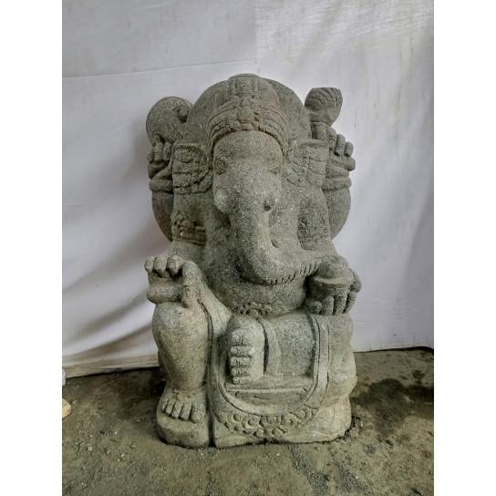 Statue de Ganesh en pierre volcanique 50 cm