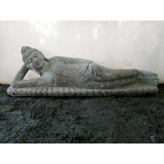 Statue De Jardin Bouddha Allong E En Pierre Naturelle 1 M 24