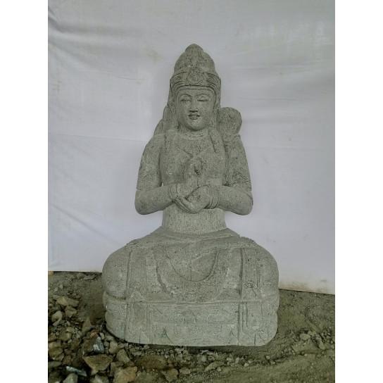 Statue déesse balinaise chakra extérieur zen pierre naturelle 120cm