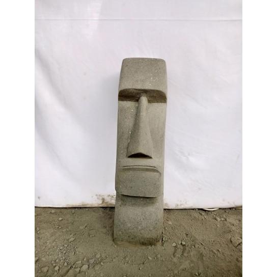 Statue en pierre naturelle Moai de 60 cm