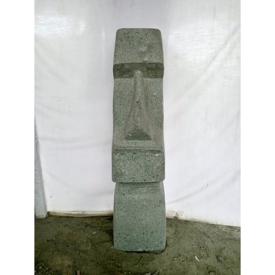 Statue île de pâques moaï en pierre naturelle 100 cm