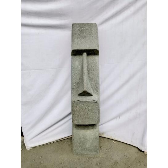 Statue île de pâques moaï en pierre naturelle 100cm
