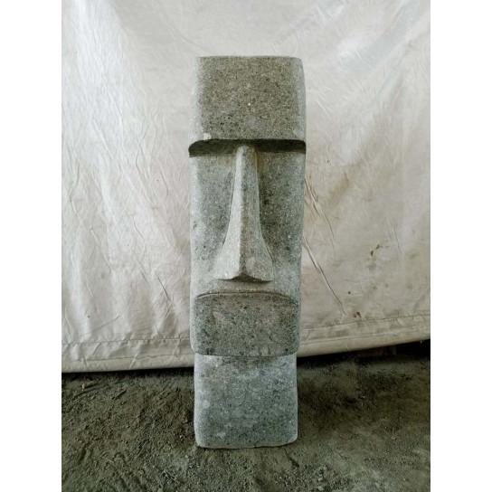 Statue île de pâques moaï pierre naturelle 60 cm