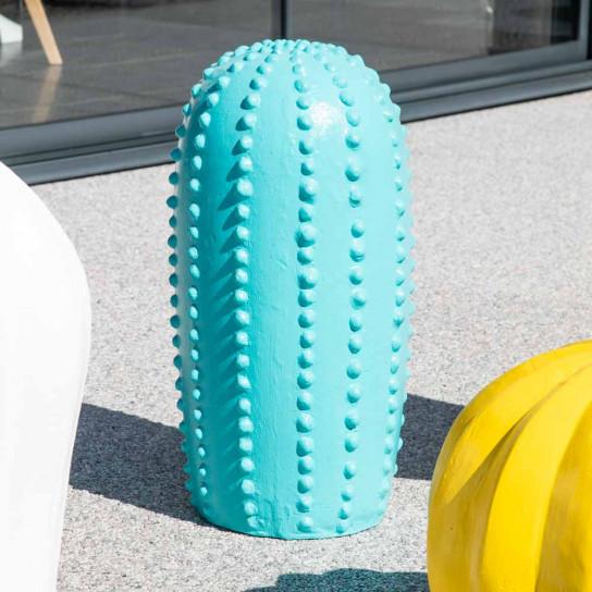 Statue jardin cactus bleu gd modèle 70cm