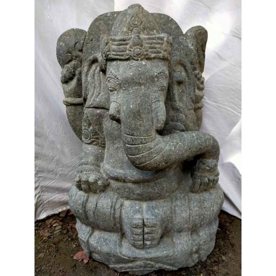 Statue de jardin Ganesh en pierre de jardin 80 cm