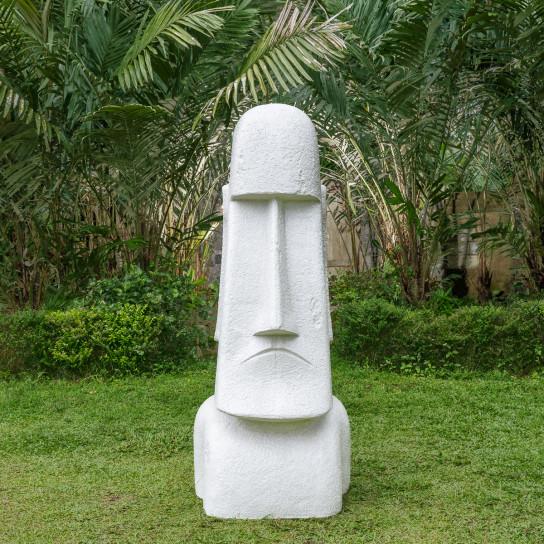 Statue jardin Moai géant de l'ile de Pâques 1m50