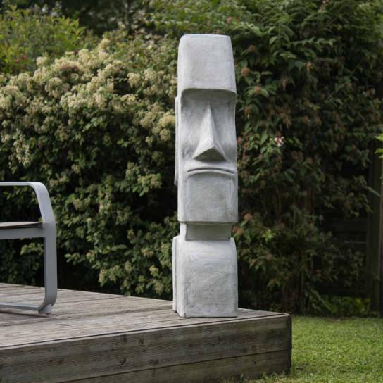 Statue Moaï île de Pâques jardin zen 1m20