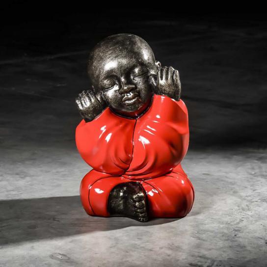Statue Moine de la sagesse rouge 49cm