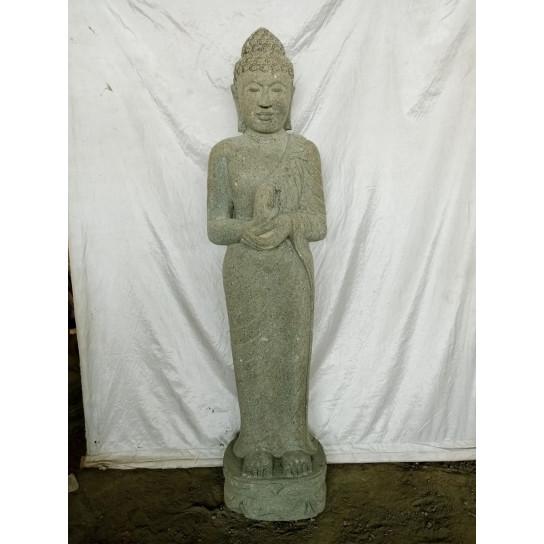 Statue pierre bouddha debout chakra de 150 cm