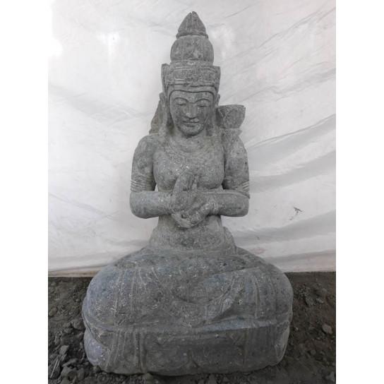 Statue zen déesse Dewi jardin zen position chakra 80 cm