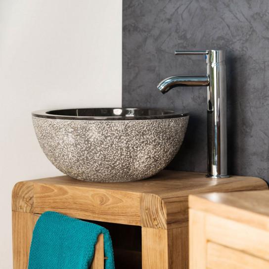 Stromboli black marble sink 35