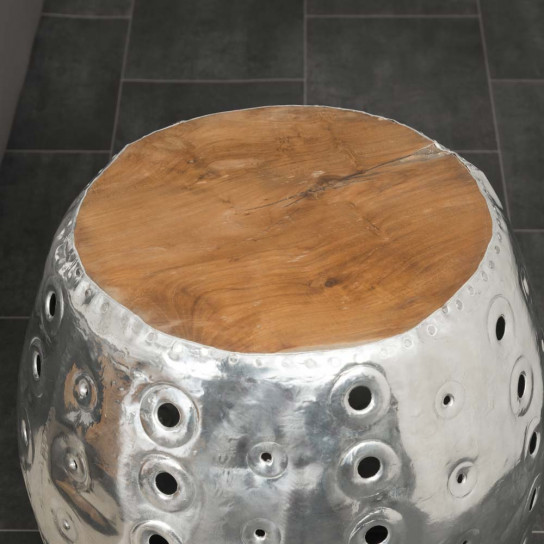 Tabouret boule Alu perforé LODGE