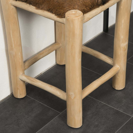Tabouret en bois LODGE