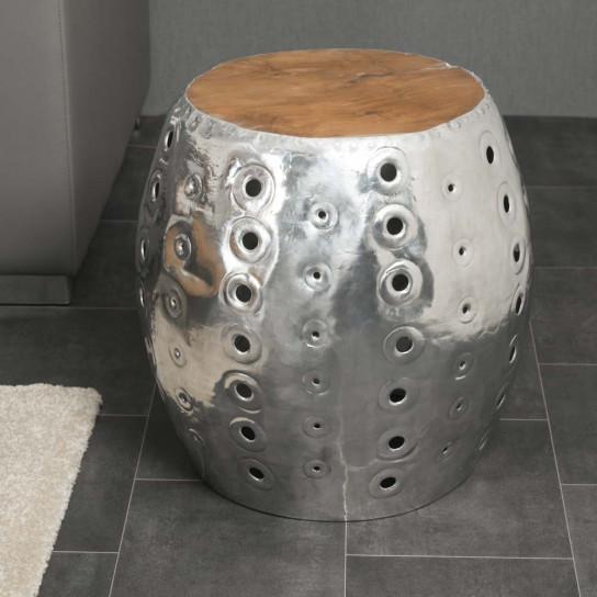 Taburete bola aluminio perforado LODGE
