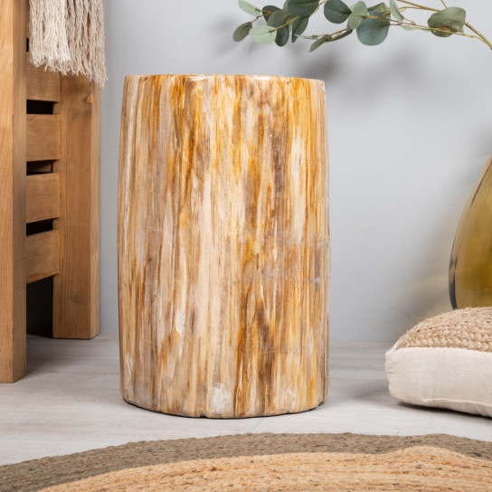 Taburete madera petrificada