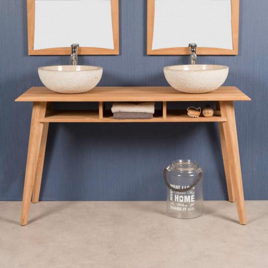 Tango teak vanity unit 140 cm