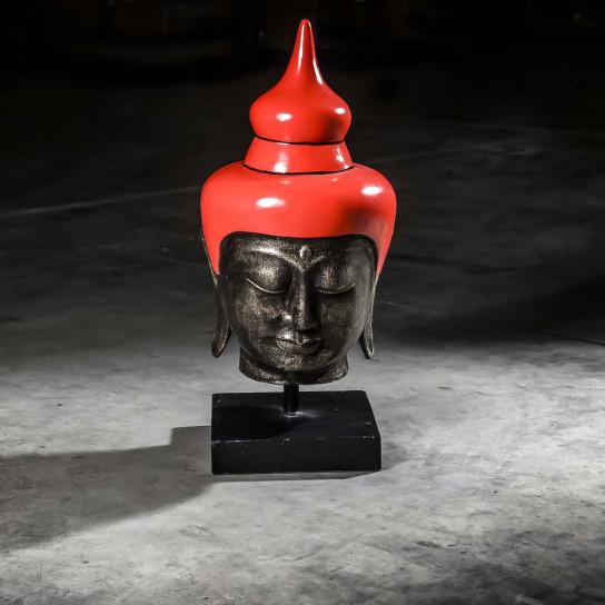 Tête bouddha grand modèle rouge 73 cm