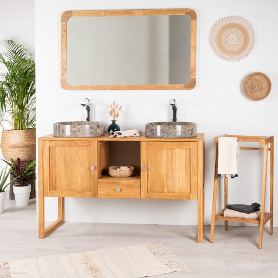 Thea teak bathroom vanity unit 130 cm