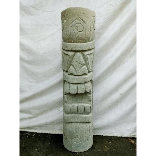 Tiki de oceanía modelo rambut estatua de piedra volcánica 1 m